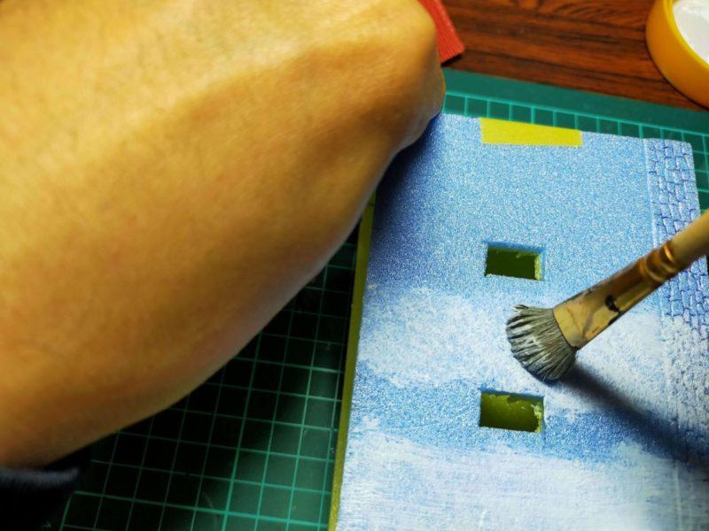 筆塗り(たたき)