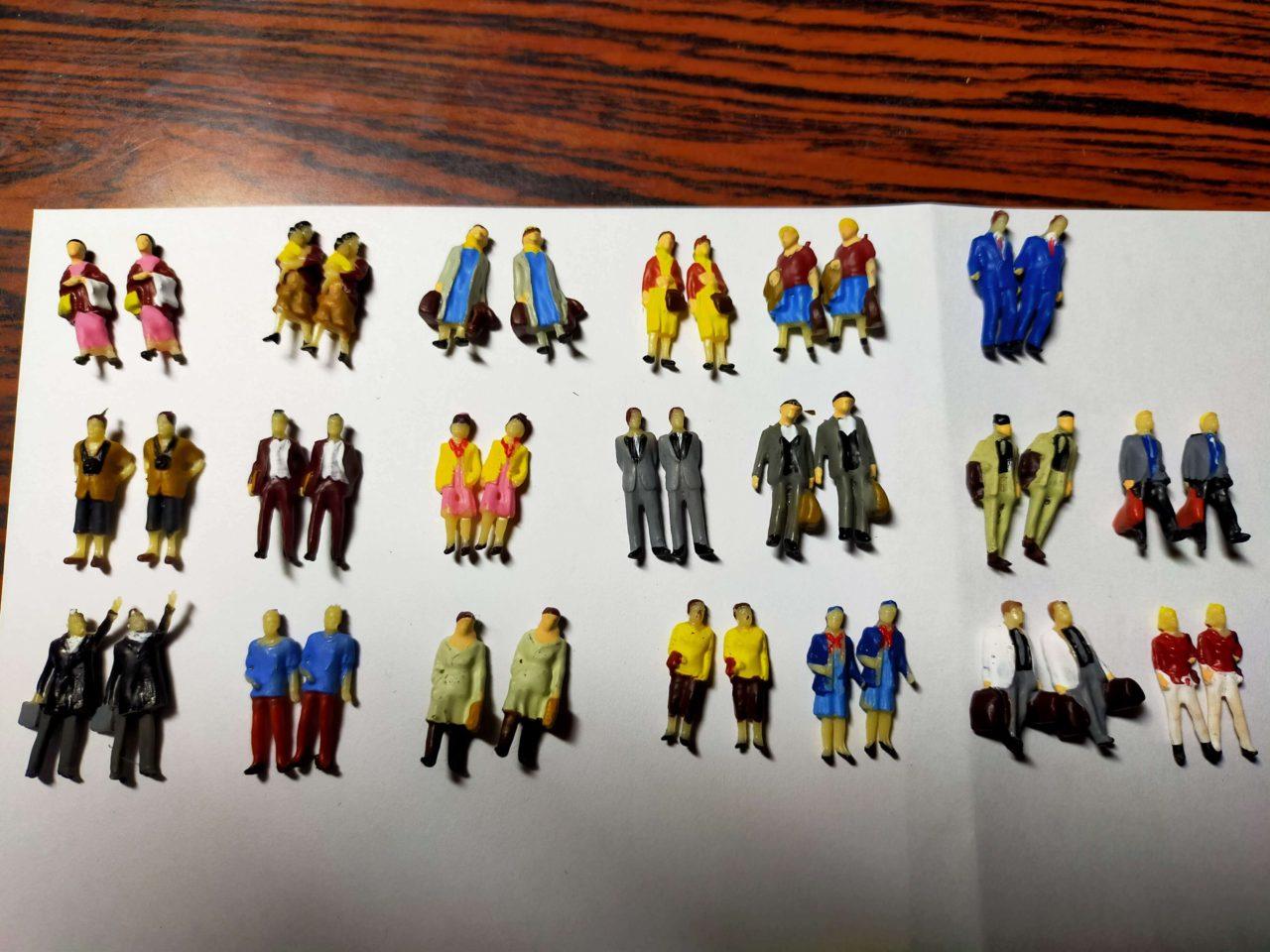 情景コレクション 人間 人形 人物 人間フィギュア塗装人 1:87 40本入り
