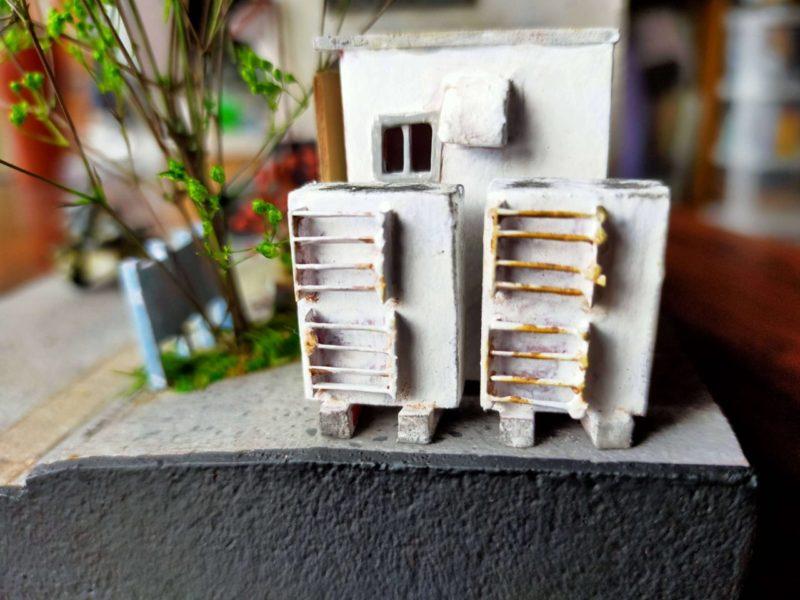 エアコン室外機のサビ